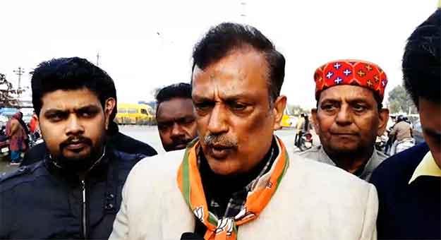 BJP Ne Patiala Me Parshuram Chowk Par Punjab Sarkar Ke Khilaaph Naarebaazi Ki Aur Pradarshan Kiya