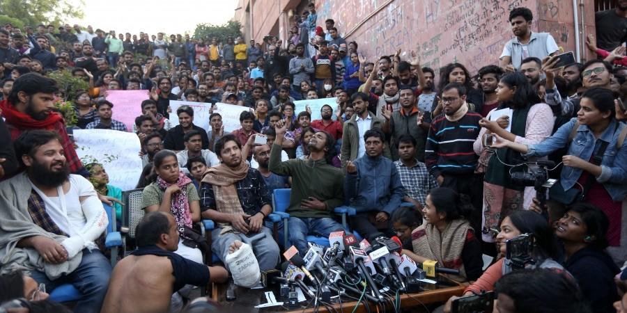 JNU Violence New Updates: The police fired FIR against the JNUSU President