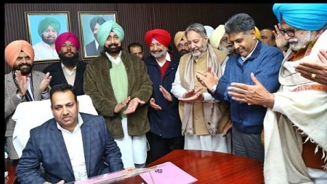 Kamaldeep Singh assumes charge as Chairman PSCADB
