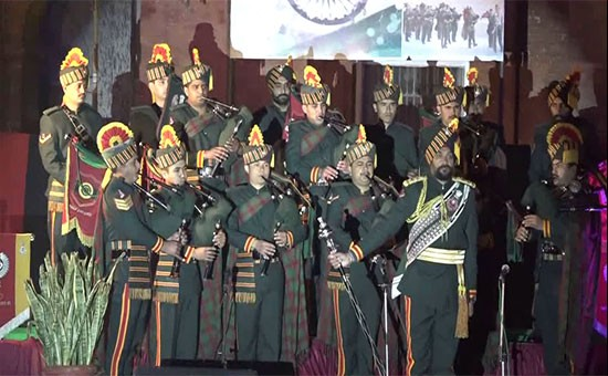 On 72nd Indian Army Day, Military Band display at Partition Museum
