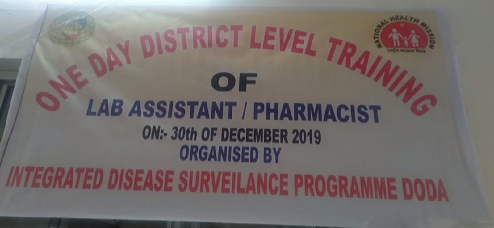 One Day District Level Training under IDSP at GMC Doda