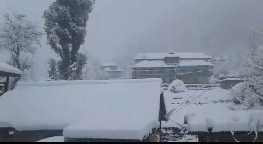 snowfall started in the higher areas of the district