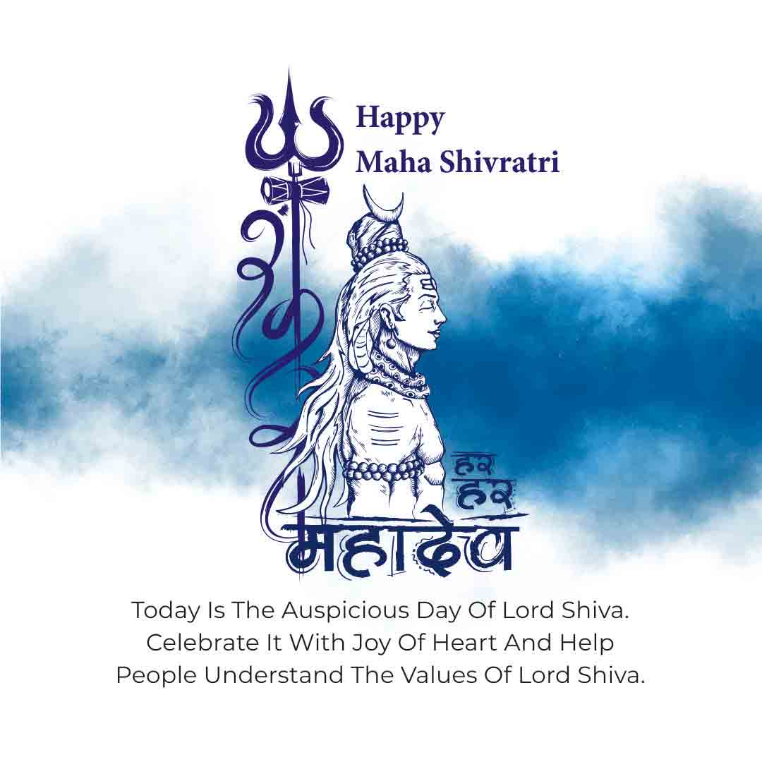 Today Is The Auspicious Day of Lord Shiva Celebrate It with Joy Of Heart And Help People Understand The Values of Lord Shiva