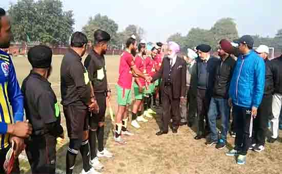 A special football tournament was held at Khalsa College in Punjab