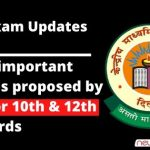 List of important changes proposed by CBSE for 10th and 12th standards