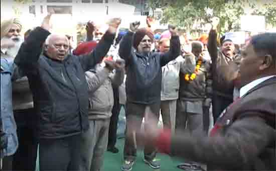 Retired pensioners of Punjab continue hunger strike in Chandigarh