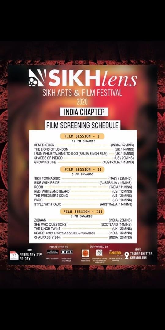 Sikhlens Festival Chandigarh Schedule