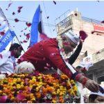 मंत्री साधु सिंह धर्मसोत ने दिल्ली में आप पार्टी जीत की दी बधाई |