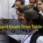 UP Board Exam Time Table 2020 for Class 10th and 12th