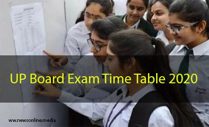up board exam time table 2020