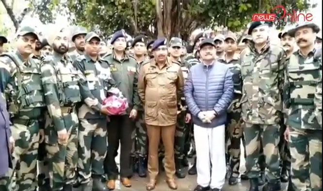 Advisor to LG R R Bhatnagar and DGP J&K Visits International Border