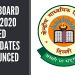 CBSE Board Exam 2020 Revised Exam Dates Announced