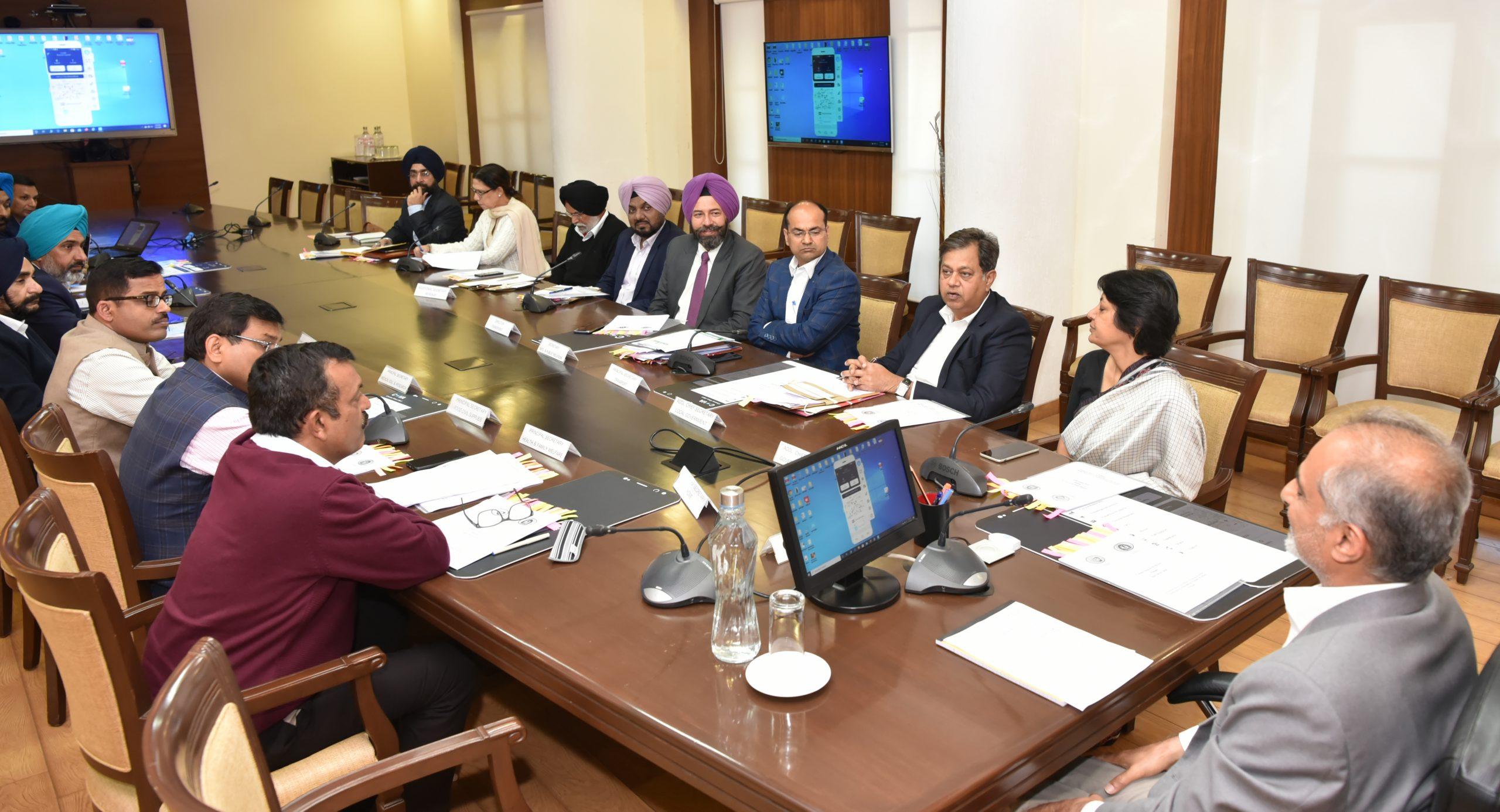 "Punjab Chief Secretary Launches "" COVA PUNJAB "" Mobile APP"