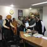 JFTU ने आज, यूनाइटेड इंडिया बीमा कंपनी के क्षेत्रीय कार्यालय चंडीगढ़ में अपनी मांगो को लेकर  जमकर  प्रदर्शन किया।