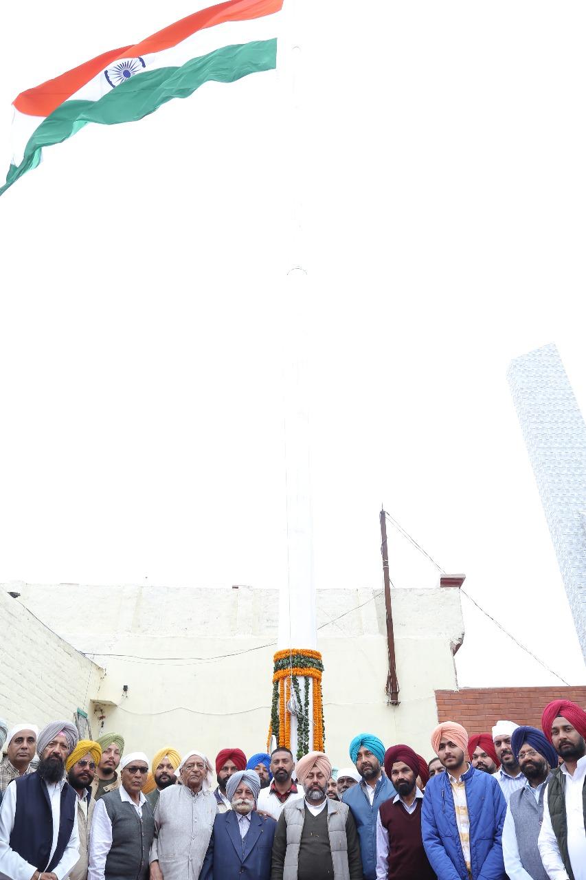 Gurkirat Singh Kotli Unfurls 'Flag of Unity' At Village Tolemajra