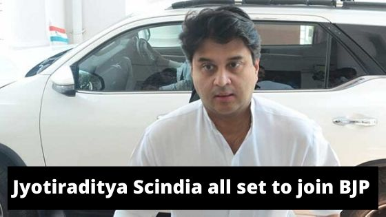 Jyotiraditya Scindia all set to join BJP