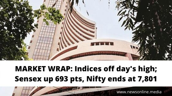 MARKET WRAP: Indices off day's high