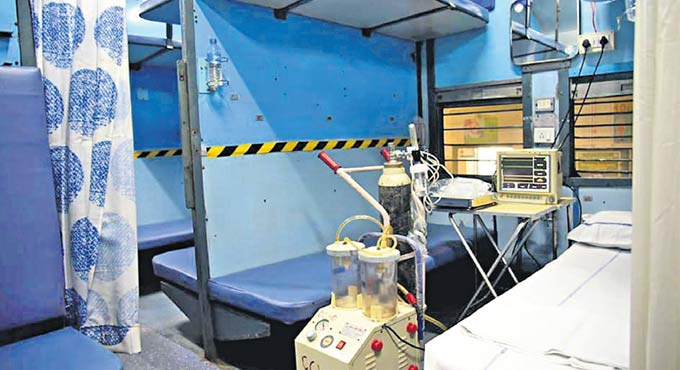 railway coaches to be used as the isolation ward