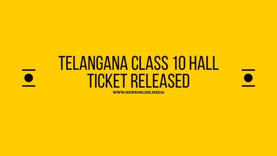 Telangana Class 10 hall ticket released