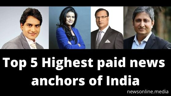 Top 5 Highest paid news anchors of India - News Online
