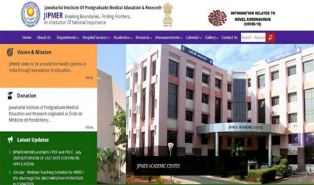 jipmer application form extended