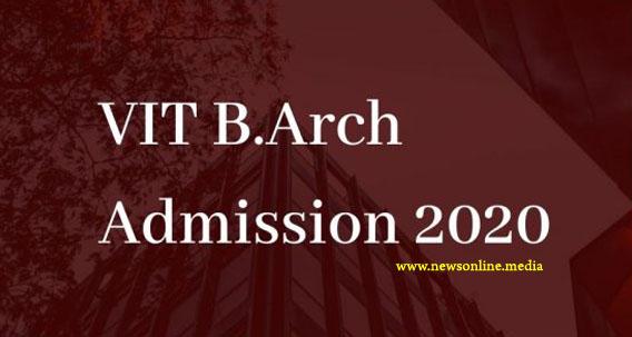 VIT B.Arch Admission 2020