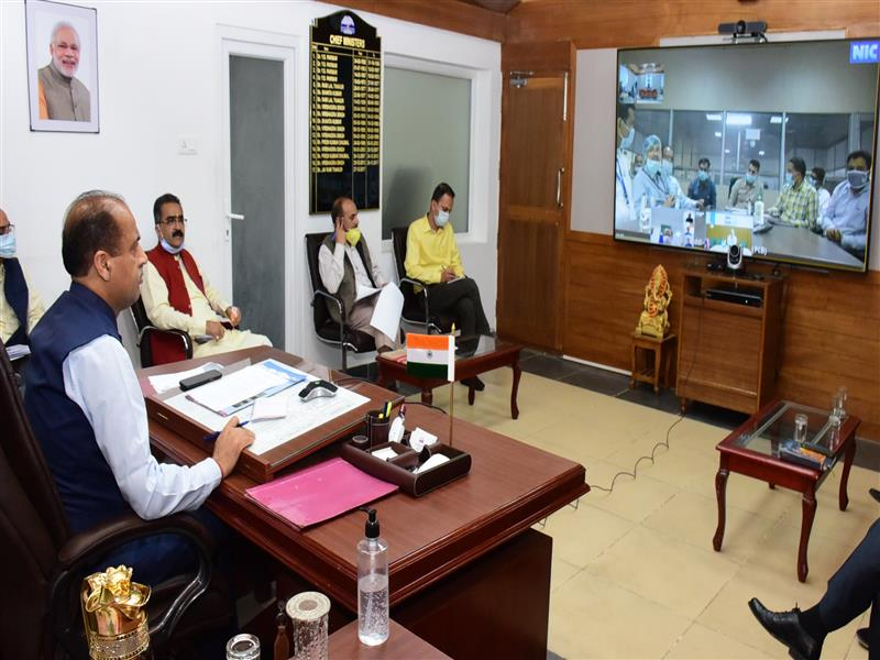 Himachal CM Interacts with Pharma Industries through video conferencing