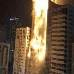 A major fire broke out in Sharjah