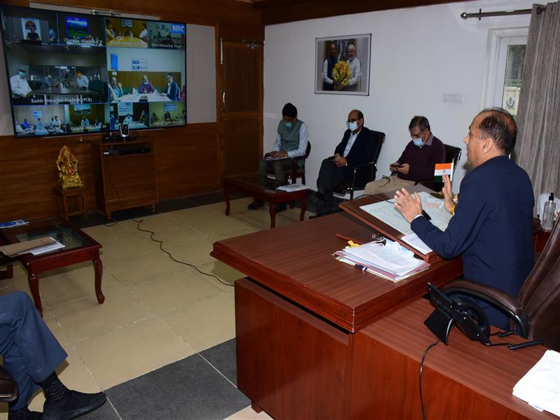 CM presides over Video Conferencing with DCs, SPs and CMOs