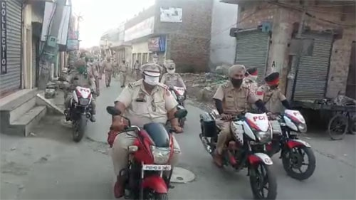 Flag march organized by DSP Sushil Kumar in Amritsar