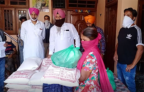 ration given to the adopted families of sidhu