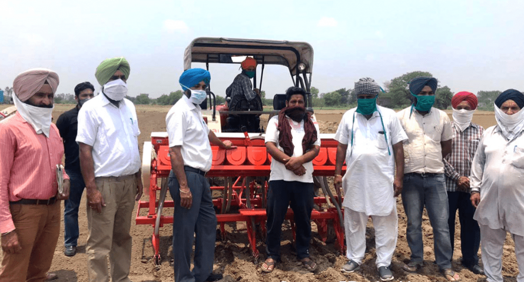 Mission Fateh Farmers evincing keen interest in Direct Seeding of Rice