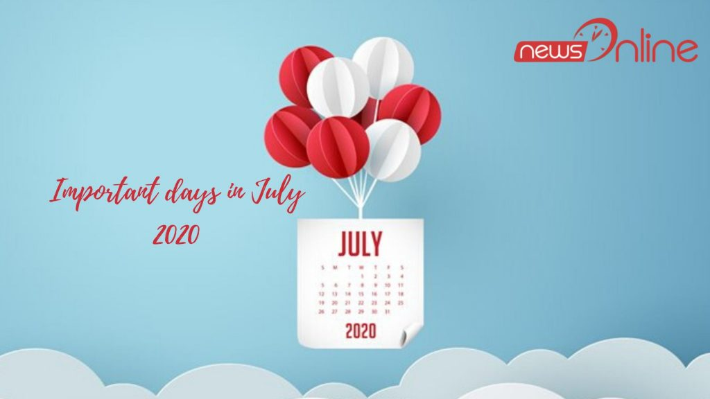 Important days in July 2020