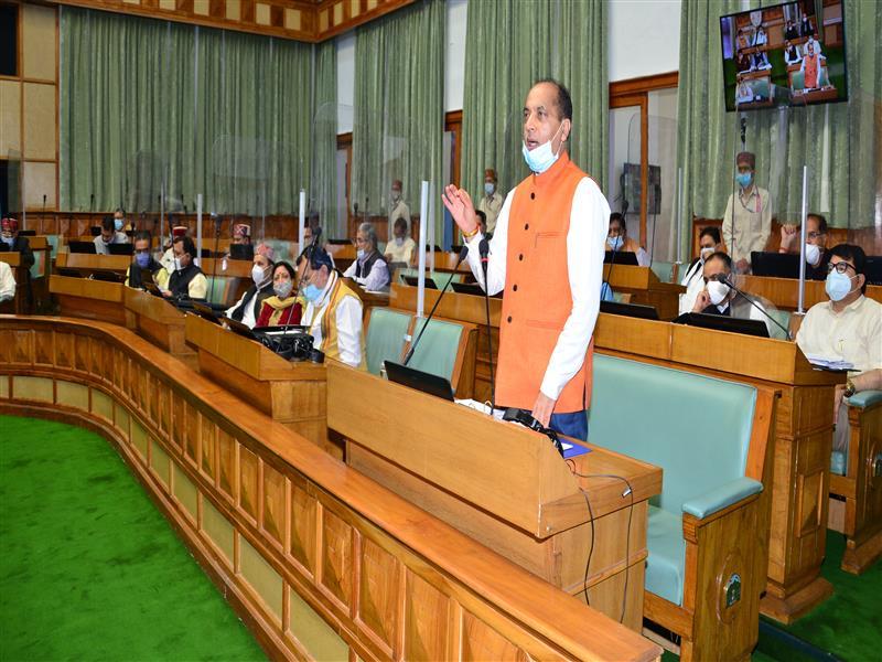 Chief Minister Shri Jai Ram Thakur during 4th day of HP Vidhan Sabha Monsoon Session at Shimla on 10 Sept. 2020.