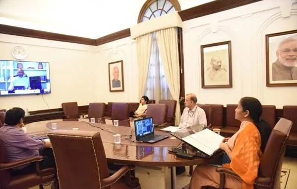 Finance Minister Smt. Nirmala Sitharaman attends the Plenary Meeting of the International Monetary and Financial Committee of the IMF through video-conference