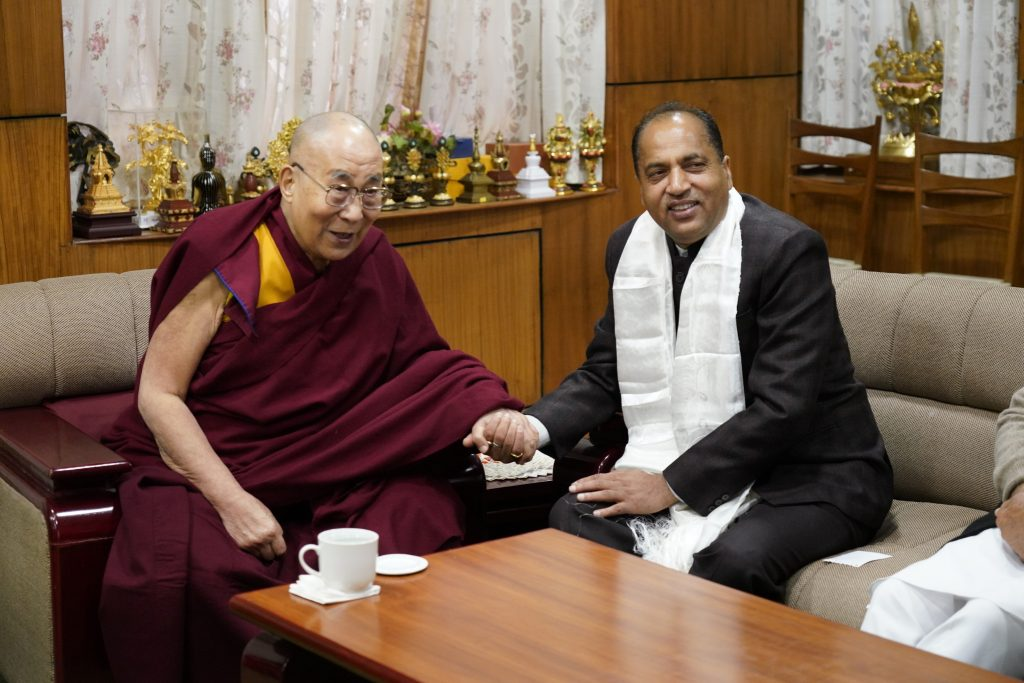 His Holiness the Dalai Lama has wished a speedy recovery to the Chief Minister Jai Ram Thakur