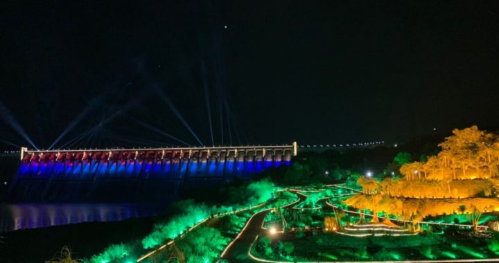 Prime Minister inaugurates dynamic lighting of the Sardar Sarovar Dam