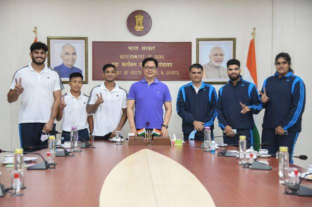 Sports Minister Shri Kiren Rijiju meets Indian judokas ahead of Budapest Grand Slam, says Judo is a priority sport