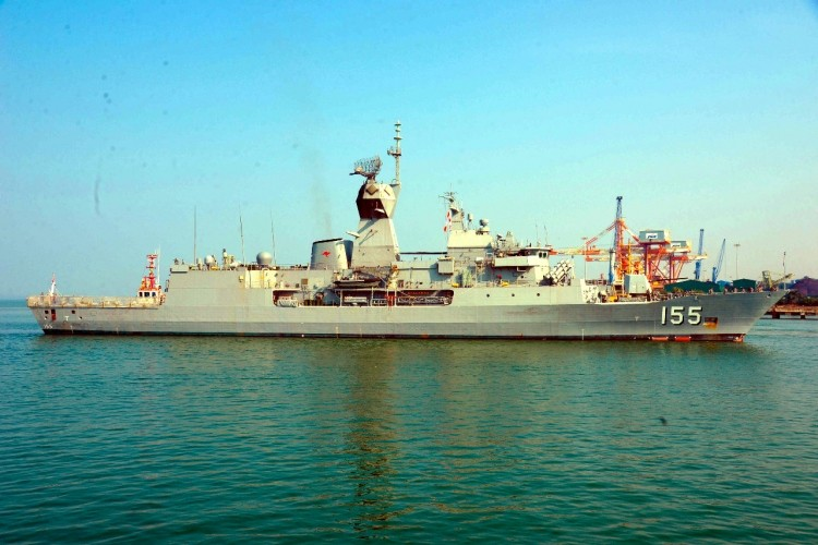 AUSTRALIAN NAVY SHIP BALLARAT VISITS GOA