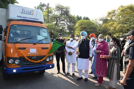 BALBIR SIDHU FLAGGED OFF 3 MORE FOOD SAFETY VEHICLES TO CONDUCT QUALITY TEST ON SPOT
