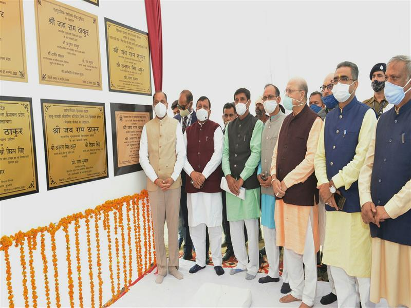 Chief Minister Jai Ram Thakur today inaugurated and laid foundation stones of developmental projects worth about Rs. 71.16crore in Haroli Vidhan Sabha area of Una district.