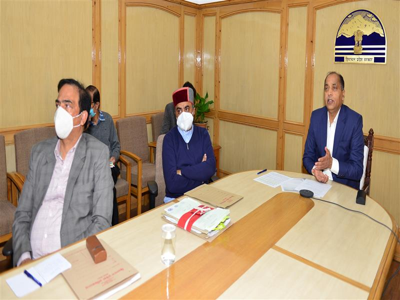 Chief Minister Jai Ram Thakur launched the website of Atal Medical and Research University, Ner Chowk Mandi through video conferencing from Shimla today.