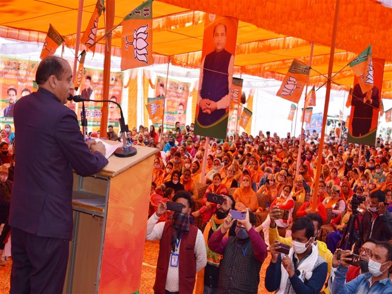 Dedicates and lays foundation stone of projects worth Rs. 56 crores in Jaswan-Paragpur