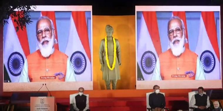 Prime Minister Shri Narendra Modi unveils statue of Swami Vivekananda at JNU Campus