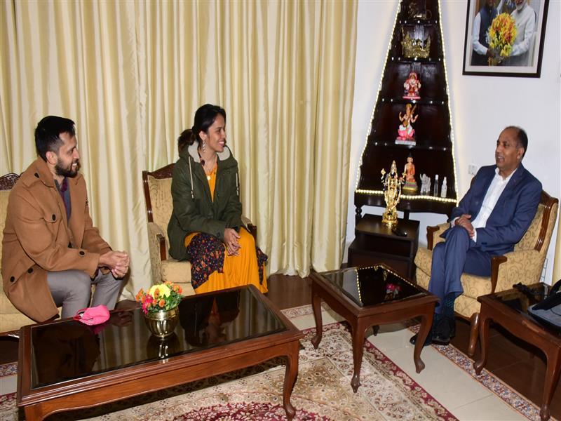 Saina Nehwal and Parupalli Kashyap calls on Chief Minister