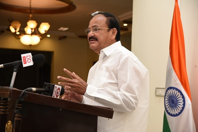 Vice President urges people to practice yoga and meditation to beat stress and prevent NCDs