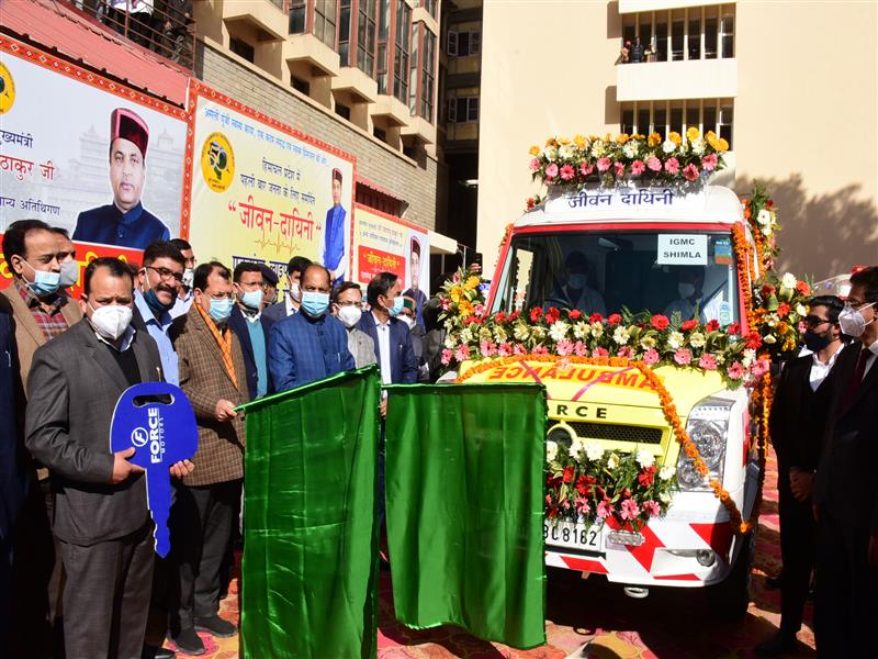 CM flags off six new advanced life support system ambulances