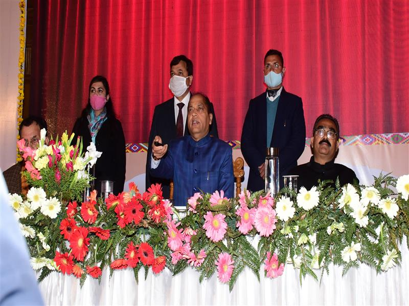Chief Minister Jai Ram Thakur today launched e-Parivahan Vyavstha of the State Transport Department to provide faceless services to the people of the State regarding Driving Licence/Registration Certificates/Permits etc.