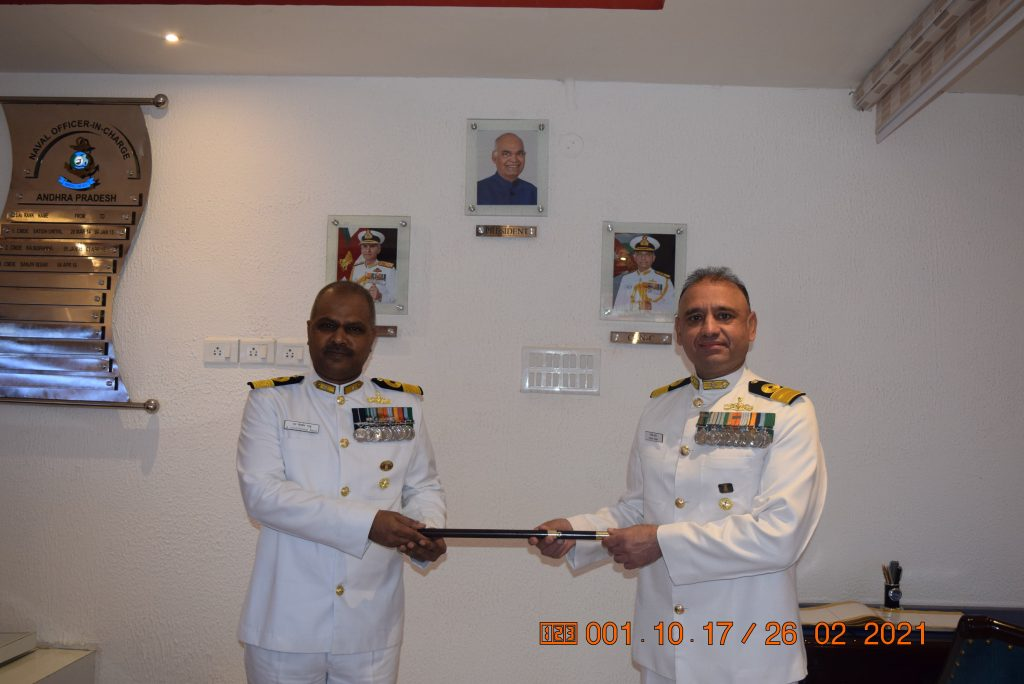 Commodore Mahadevu Goverdhan Raju, NM takes over as Naval Officer-In-Charge (Andhra Pradesh)