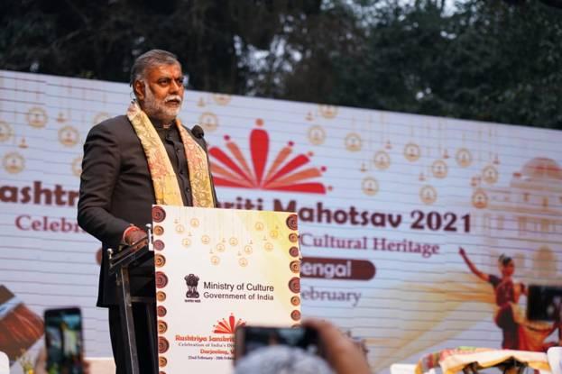 Culture Minister Shri Prahlad Singh Patel inaugurates the three day Rashtriya Sanskriti Mahotsav at Raj Bhawan in Darjeeling